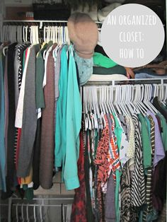 how to organize a small closet; small closet organization ideas