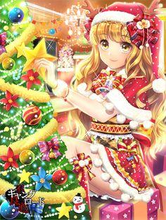 Merry christmas amp happy holidays anime art santa girl