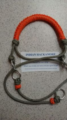 Reflective indian hackamore made today
