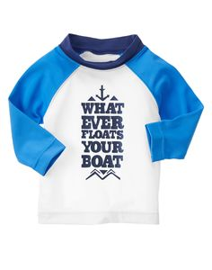 Whatever Floats Your Boat Rash Guard at Gymboree  Collection Name: Coastal Breeze (2015)