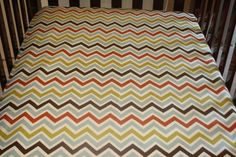 K's room Woodland Chevron Crib Sheet by DesignsbyChristyS on Etsy, $35.00