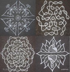kolam with dots Rangoli Designs With Dots, Rangoli With Dots, Beautiful Rangoli Designs, Kolam Designs, Indian Rangoli, Kolam Rangoli, Kolam Dots, Rangoli Simple, Form Drawing