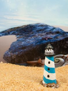 Tiny Lighthouse to light up your fairy gardens.