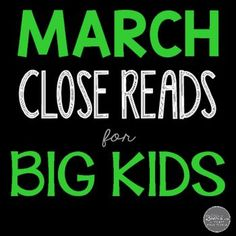 March Close Reads for Grades 4-6