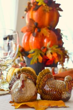 Fall + Thanksgiving table with Better Homes and Gardens dishes
