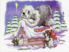 Old English Sheepdog Christmas Cards by Mike McCartney