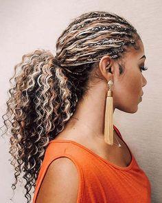 21 Beautiful Ways to Wear Tree Braids This Season Micro Braids Hairstyles, Loose Hairstyles, Pretty Hairstyles, Protective Hairstyles, Protective Styles, Kids Braided Hairstyles, Elegant Hairstyles, Summer Hairstyles, Blonde Afro