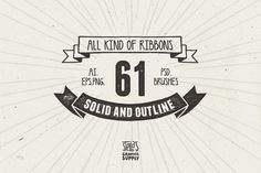 FREE this week - Dec 29 - Check out All Kind of Ribbons by Stella's Graphic Supply on Creative Market