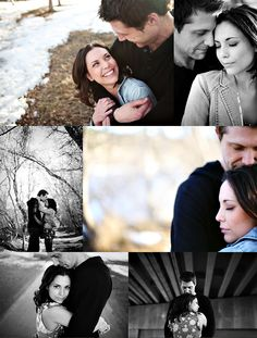 Engagement pictures for short girls and tall guys! ~I feel like I could have this problem.