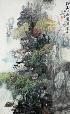中国山水画-3.jpg (425×689)