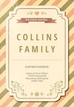 Contemporary Charm - Moving Announcement #announcements #printable #diy #template #Moving #newaddress #newhome Moving Announcements, Text Messages, Create Yourself, Printables, Charmed, Invitations, Templates, Contemporary, Frame