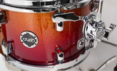 Sublime Tour Maple in Red/Orange Sparkle Fade