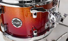 Sublime Tour Maple in Red/Orange Sparkle Fade