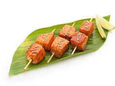 brochettes de saumon à la citronnelle