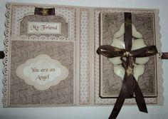 Kottens corner: Cards  Inside of tealight card.