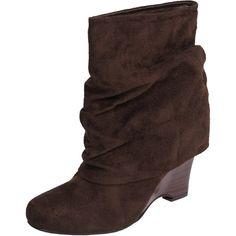 Brinley Co. wedge heel slouchy boots walmart.com $28