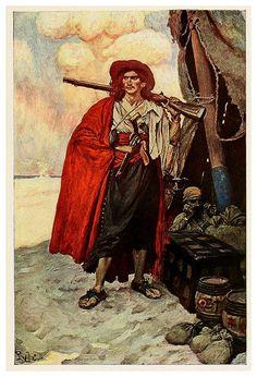 008-Tipo pintoresco de bucanero- Howard Pyle's book of pirates..1921 - Cesar Ojeda