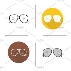 Sunglasses. 4 icons. Vector by Icons Factory on @creativemarket