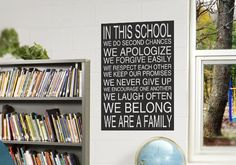 In This School Wall Decal Subway Art from www.tradingphrases.com an awesome design for a school hallway, classroom or anywhere else in your school!