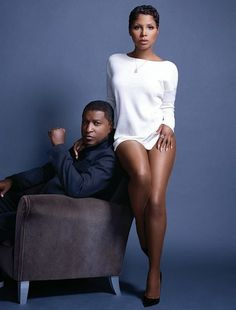 Toni Braxton and Babyface, R&B singer-songwriters. Famous in their own right, as well as her having been an artist on his label LaFace Records, they came together again to release an album titled Love, Marriage & Divorce. They are both divorcees. My Black Is Beautiful, Black Love, Beautiful People, Black Style, Music Icon, Soul Music, Indie Music, Black Celebrities, Celebs