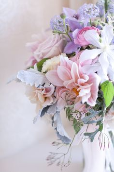 PASTEL wedding flower bouquet