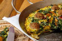Schnelles Omelett mit Mangold und Falafel - goodlife.in-mind.de