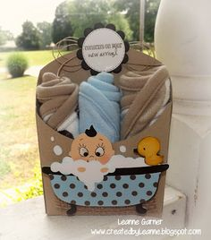 Obsessed with Scrapbooking: See the Cutest Baby Shower Gift EVER! Guest Designer Leanne from CreatedByLeanne - Cricut Art Philosophy and Baby Steps