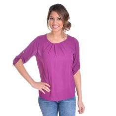 PURE AND SIMPLE TOP IN PURPLE