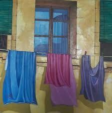 pinturas con ropa tendida - Buscar con Google
