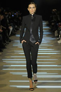 Black pants suit @ALEXVAUTHIER Alexandre Vauthier Spring Summer Couture 2013 #HauteCouture  #HC #Fashion