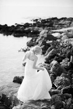 True elegance lies in simplicity. Beautiful bridal portrait of Claire on the shore of Crete.