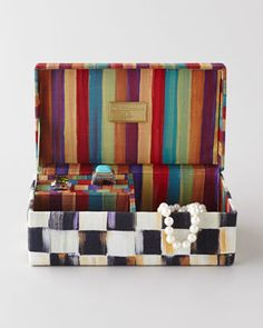 """""""Courtly Check"""" Jewelry Box by MacKenzie-Childs at Neiman Marcus."""