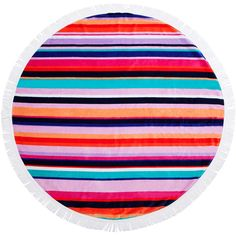 Round Towel in Hamilton design by SunnyLIFE ($98) ❤ liked on Polyvore featuring home, bed & bath, bath, beach towels, circular beach towel, cotton round beach towel, round beach towel and cotton beach towels