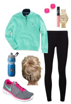 Active preppy outfit by perfectlypreppy15 on Polyvore featuring James Perse, NIKE, Kate Spade, Michael Kors, NARS Cosmetics and Vineyard Vines