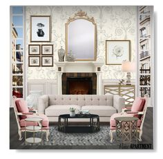 """""""Paris Apartment"""" by obriendeb812 ❤ liked on Polyvore featuring interior, interiors, interior design, home, home decor, interior decorating, York Wallcoverings, Serena & Lily, Home Decorators Collection and ELK Lighting"""