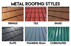 Metal Roof Installation, Types Of Roofing Materials, Metal Roof Colors, Metal Barn Homes, Asphalt Roof Shingles, Roof Styles, Roof Repair, Image House, The Help