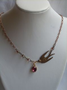 Free as a Bird Necklace by jeangini on Etsy, $39.00