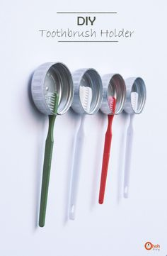 Une super idée pour organiser vos brosse à dent.