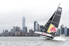 "Emily Nagel on the experience: ""I couldn't quite believe I was on a boat with the ORACLE Team USA guys and Shannon. The learning curve of getting to sail with people with that kind of experience is just incredible. I learned so much about foiling and about offshore sailing."