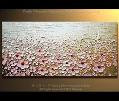 Prairie Blooms Painting Original Contemporary Textured by Artcoast, $370.00