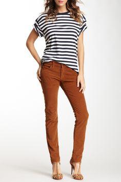 Cognac Colored Corduroy Boyfriend Pants