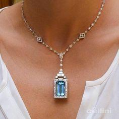 Happy #Aquamarine Month #MesmerizingMarch Perfect accent for #Spring #Summer #Youthful #Health #Hope #Gems #Gemstones #FineGems #Diamonds #ArtDeco #CelliniJewelers