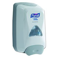 PURELL 512006 FMX-12 Foam Hand Sanitizer Dispenser For 1200mL Refill, White - The PURELL 5120-06 FMX wall-mounted dispenser holds 1000 mL or 1200 mL FMX refill containers of PURELL hand sanitizers, and has a push panel that dispenses sanitizer from the bottom of the unit. The dispenser body is dove gray with a glossy finish and has transparent windows on top and front for ...