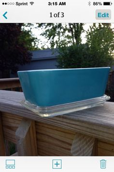 Pyrex 502 vintage primary blue fridgie with lid by TaliGirl77 on Etsy