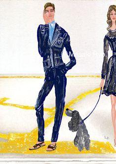 inspired by Prada SPRING 2015 MENSWEAR Collection | illustration by Masaki Ryo.