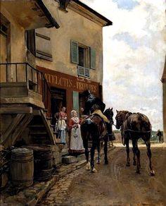 Jean Louis Ernest Meissonier (1815-1891) - L'auberge du Pont de Poissy.