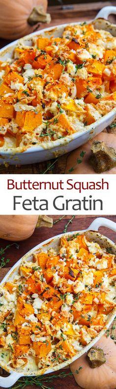Butternut Squash and Feta Gratin