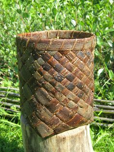 Made from willow bark- one day i will learn basket weaving