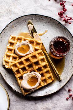 Crispy Belgian Waffles   Source