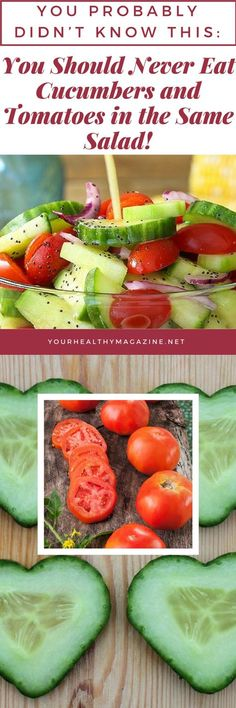 The experts warn that combining ingredients that have a fast and slow digestion rate is not a good idea! Well we can answer that question for you because the lighter ingredient will end up passing in the intestine just as the first one is complete Healthy Teeth, Healthy Tips, Stay Healthy, Healthy Meals, Cucumber Tomato Salad, Fast And Slow, Nutrition, Food Hacks, Food Tips